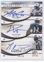 Alge Crumpler, Paul Williams, Lavelle Hawkins /25
