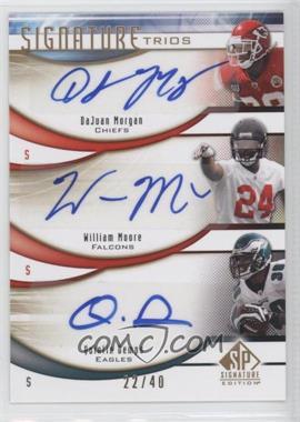 2009 SP Signature Edition Signature Trios #T-JDM - DaJuan Morgan, Quintin Demps /40