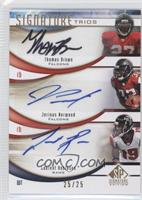 Thomas Brown, Jerious Norwood, Laurent Robinson /25