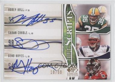 2009 SP Signature Edition Triple Scripts #TR-HCH - Shawn Crable /50