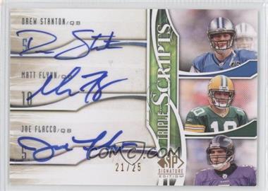 2009 SP Signature Edition Triple Scripts #TR-SFF - Drew Stanton, Joe Flacco, Matt Flynn
