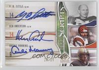 Y.A. Tittle, Ken Anderson, Archie Manning /25