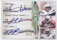 Dominique Rodgers-Cromartie, Eric Weddle, Mike Jenkins /50