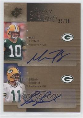 2009 SPx [???] #D-BF - Matt Flynn, Brian Brohm /50