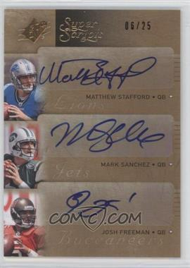 2009 SPx [???] #T-RQB - Mark Sanchez, Josh Freeman /25