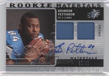 2009 SPx Rookie Materials Dual Patch Autograph [Autographed] [Memorabilia] #RM-BP - Brandon Pettigrew /50