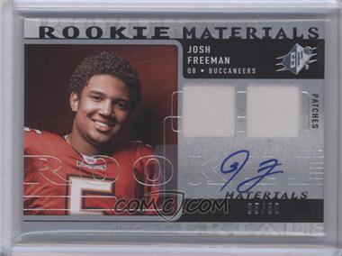 2009 SPx Rookie Materials Dual Patch Autograph [Autographed] [Memorabilia] #RM-JF - Josh Freeman /50