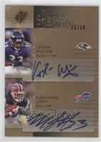 Marshawn Lynch, Le'Ron McClain /50