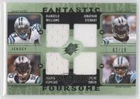 Steve Smith, DeAngelo Williams, Jonathan Stewart, Julius Peppers /10