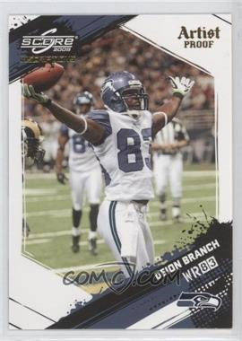 2009 Score Inscriptions Artist Proof #255 - Deion Branch /32