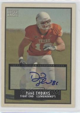 2009 Topps Magic Autographs #52 - David Thomas