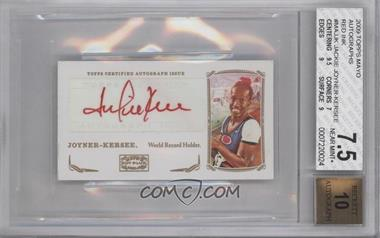2009 Topps Mayo Mini Autographs Red Ink #MA-JJK - [Missing] [BGS 7.5]