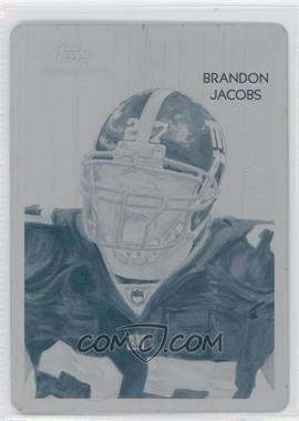 2009 Topps National Chicle - [Base] - Printing Plate Cyan #C5 - Brandon Jacobs /1