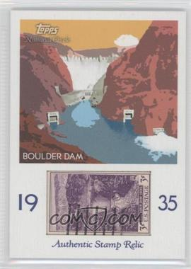 2009 Topps National Chicle - Era Icons Stamp Relics #ER-BD - Boulder Dam