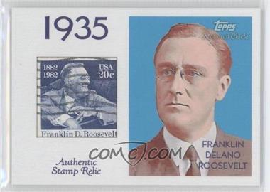 2009 Topps National Chicle - Era Icons Stamp Relics #ER-FDR2 - Franklin Delano Roosevelt