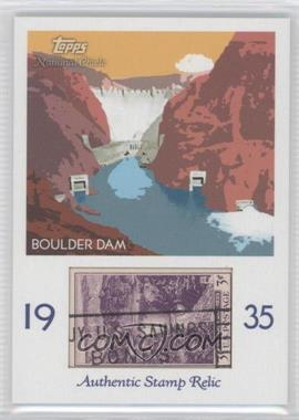2009 Topps National Chicle Era Icons Stamp Relics #ER-BD - Boulder Dam