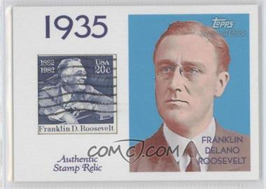 2009 Topps National Chicle Era Icons Stamp Relics #ER-FDR2 - Franklin Delano Roosevelt