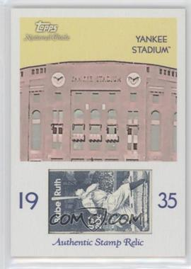 2009 Topps National Chicle Era Icons Stamp Relics #ER-YS - Yankee Stadium