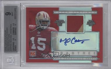 2009 Topps Platinum Autographed Refractor Patch Red #ARP-MC - Michael Crabtree /10 [BGS 9]
