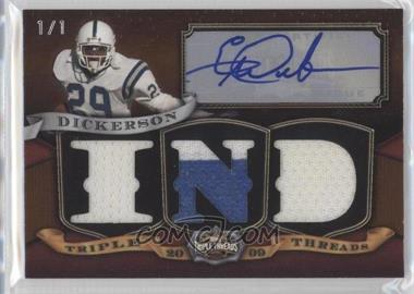 2009 Topps Triple Threads Autographed Relics Pigskin #31 - Eric Dickerson /1