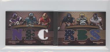 2009 Topps Triple Threads Double Combo Relics Book Platinum #TTDCR-11 - Adrian Peterson, DeAngelo Williams, Clinton Portis, Matt Forte, Ryan Grant, Brandon Jacobs /1