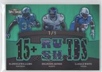 DeAngelo Williams, Brandon Jacobs, LenDale White /9