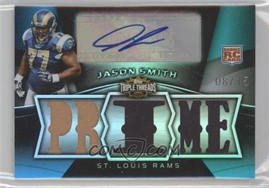 2009 Topps Triple Threads Rookie Autographed Prime Sapphire Relics #117 - Jason Smith /15