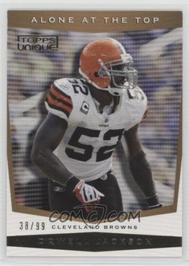 2009 Topps Unique - Alone at the Top - Bronze Select #AT7 - D'Qwell Jackson /99