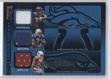 2009 Topps Unique - Triple Threat Relics #TTR-MBW - Knowshon Moreno, Donald Brown, Chris Wells /25