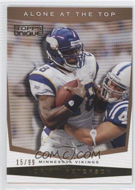 2009 Topps Unique Alone at the Top Bronze Select #AT1 - Adrian Peterson /99