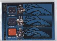 Knowshon Moreno, Eddie Royal, Brandon Marshall /25