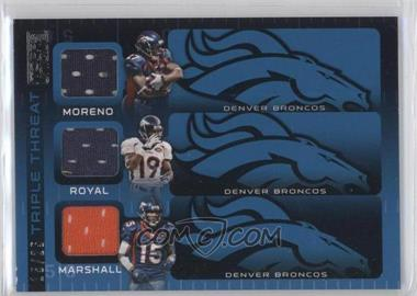 2009 Topps Unique Triple Threat Relics #TTR-MRM - Knowshon Moreno, Eddie Royal, Brandon Marshall /25