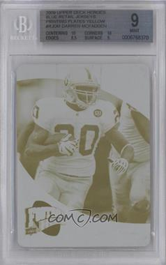2009 UD Football Heroes Blue Retail Jerseys Printing Plate Yellow #RJ-DM - Darren McFadden /1 [BGS 9]