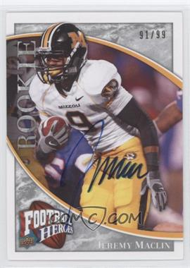 2009 UD Football Heroes Silver Autographs #105 - Jeremy Maclin /99