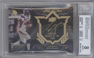 2009 Upper Deck Black Biography Cut Signature #BPS-AP - Adrian Peterson /5 [BGS 8]