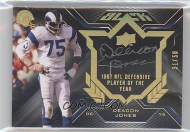 2009 Upper Deck Black Biography Cut Signature #BPS-DJ - Deacon Jones /50