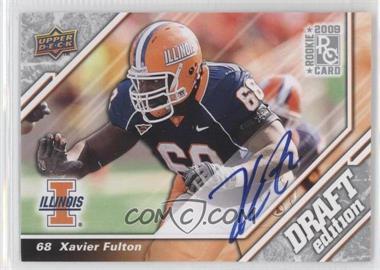 2009 Upper Deck Draft Edition - [Base] - Autographs [Autographed] #108 - Xavier Fulton