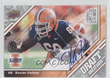 2009 Upper Deck Draft Edition Autographs [Autographed] #108 - Xavier Fulton