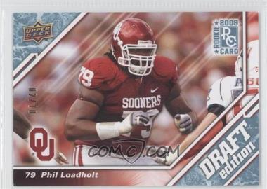 2009 Upper Deck Draft Edition Blue #45 - Phil Loadholt /10