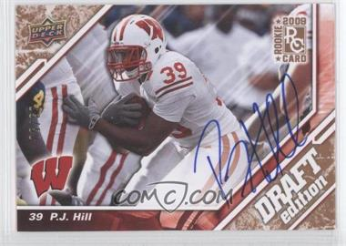2009 Upper Deck Draft Edition Copper Autographs [Autographed] #24 - P.J. Hill /50