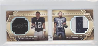 2009 Upper Deck Exquisite Collection - Rookie Bookmarks - Gold #BM-HB - Darrius Heyward-Bey, Deon Butler /50