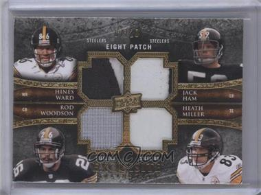 2009 Upper Deck Exquisite Collection Eight Patch #30 - Jack Ham, Hines Ward, Heath Miller, Limas Sweed, Mike Wallace, Rod Woodson, Troy Polamalu, Willie Parker /20