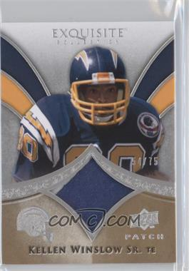 2009 Upper Deck Exquisite Collection Patch #P-KW - Kellen Winslow Sr. /75