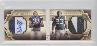 2009 Upper Deck Exquisite Collection Rookie Bookmarks #BM-BG - Donald Brown, Shonn Greene /99