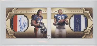 2009 Upper Deck Exquisite Collection Rookie Bookmarks #BM-BM - Knowshon Moreno, Donald Brown /35