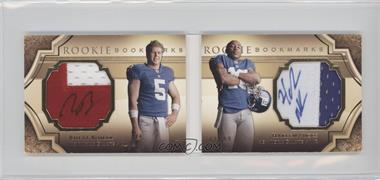 2009 Upper Deck Exquisite Collection Rookie Bookmarks #BM-BN - Hakeem Nicks, Rhett Bomar /99