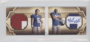 2009 Upper Deck Exquisite Collection Rookie Bookmarks #BM-BN - Rhett Bomar, Hakeem Nicks /99