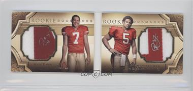 2009 Upper Deck Exquisite Collection Rookie Bookmarks #BM-FD - Nate Davis, Josh Freeman /99