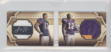 2009 Upper Deck Exquisite Collection Rookie Bookmarks #BM-IH - Juaquin Iglesias, Percy Harvin /99