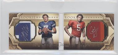 2009 Upper Deck Exquisite Collection Rookie Bookmarks #BM-MF - Josh Freeman, Stephen McGee /99